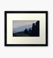 Vertical rocks Framed Print