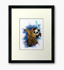 Panda Jedi Framed Print