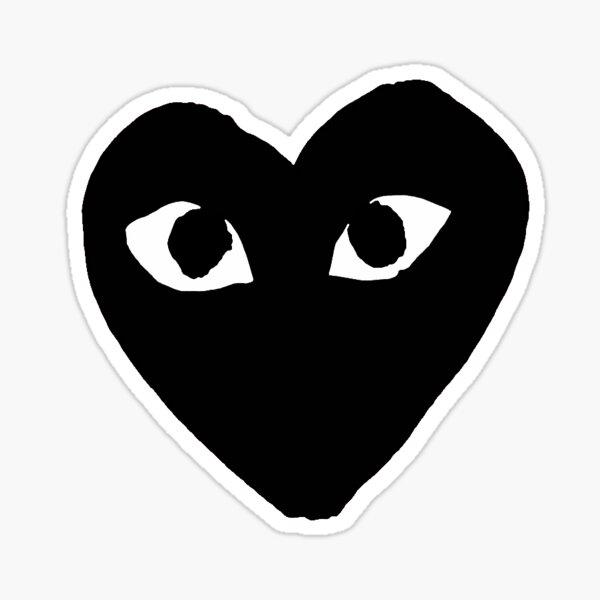 CDG Black Heart Sticker