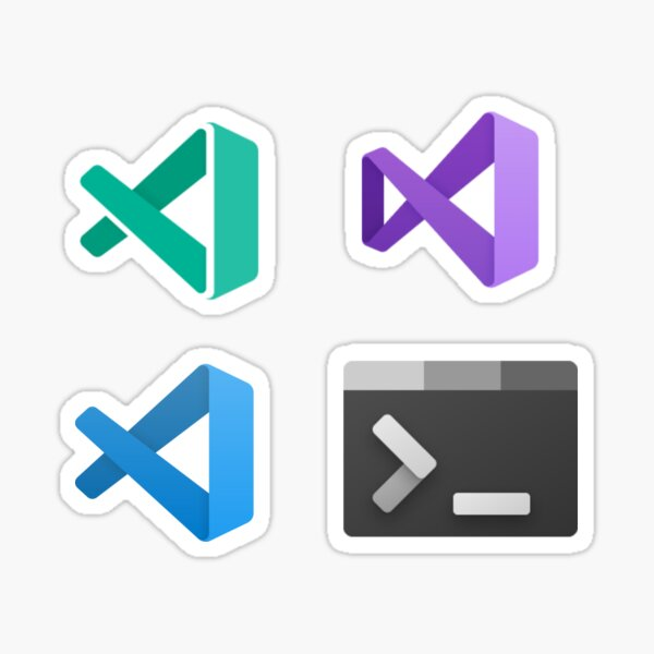 Set: VIsual Studio, VS Code, Insiders, Windows Terminal Sticker