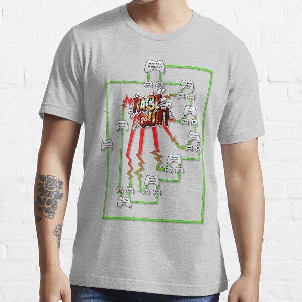 Rage Quit Flow Chart Essential T-Shirt