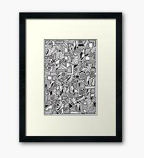 Doodler Framed Print