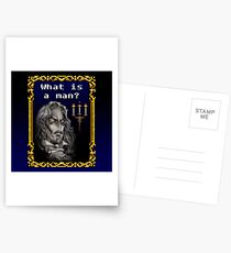 What is a man? Postcards