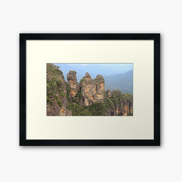 Three Sisters Blue Mountains Framed Art Print