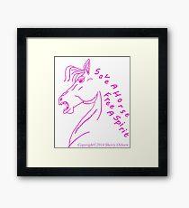 Save A Horse, Free A Spirit Framed Print