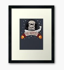 SPACE PUPPY HAZ A ROCKET! Framed Print