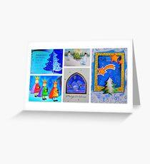 Spiritual Christmas Collage Greeting Card