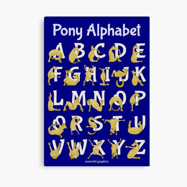 Pony Alphabet, Blue Canvas Print