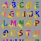 Pony Alphabet Chart, Colourful by piedaydesigns