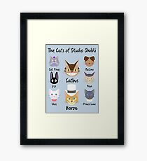 THE CATS OF STUDIO GHIBLI Framed Print