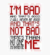 Bad Anon - Wreck-it Ralph Photographic Print
