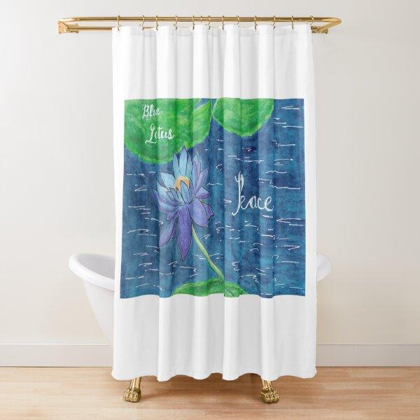 Blue Lotus - Peace Shower Curtain