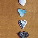 Hearts iPhone case by Elena Kolotusha