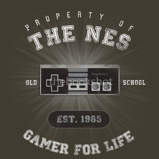 TShirtGifter presents: Property of the NES - Athletic Style Shirt - Light