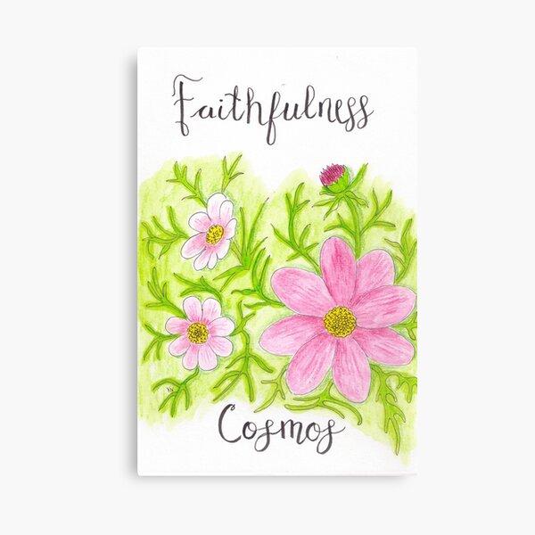 Cosmos Flower - Faithfulness Canvas Print
