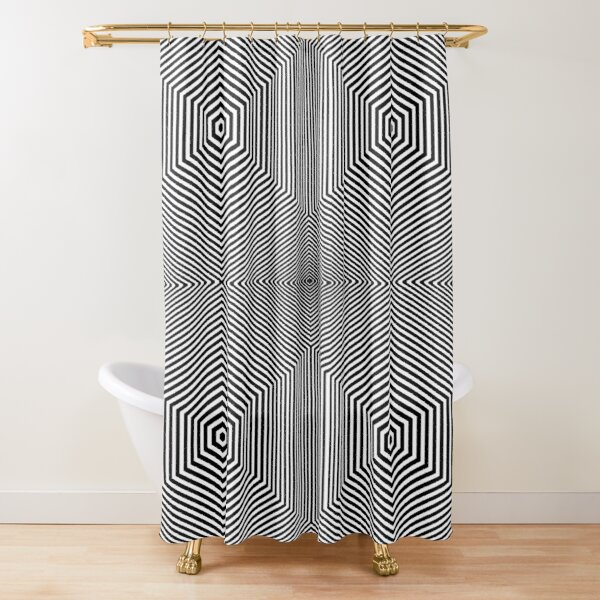 Monochromic image is composed of one color. A monochromatic object or image reflects colors in shades of limited colors or hues Shower Curtain