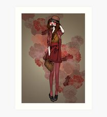 Jolie Rouge Art Print