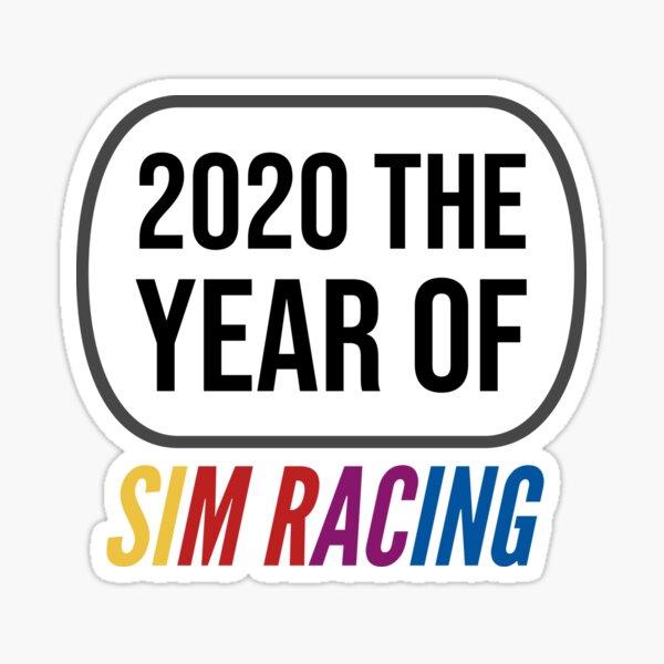2020 The year of Sim racing Sticker