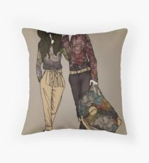 Dollhouse Couple Throw Pillow