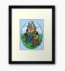 Summertime Treat - Coyote with Ice Cream Framed Print