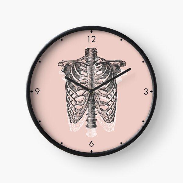 Anatomical Ribcage • Pastel Pink • Pastel Goth Clock