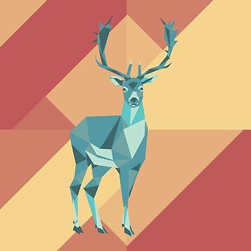 Origami deer by MinetteMona