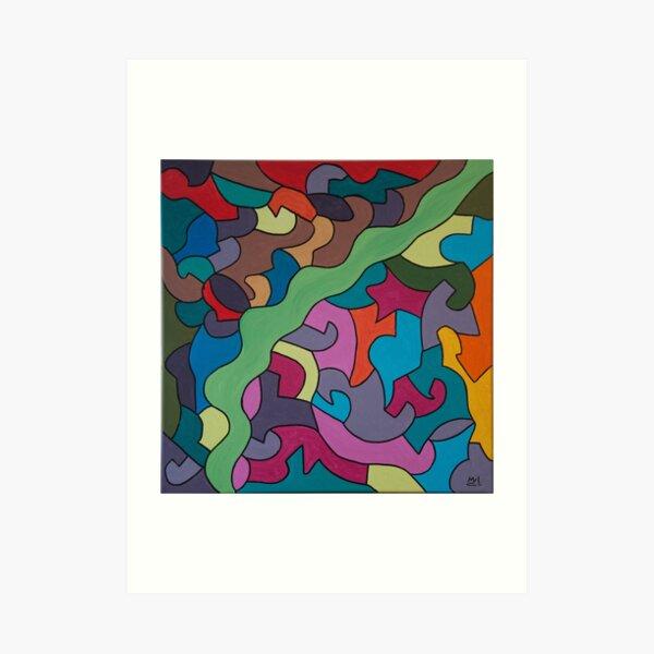 Follow the colours - Kizd Art Print