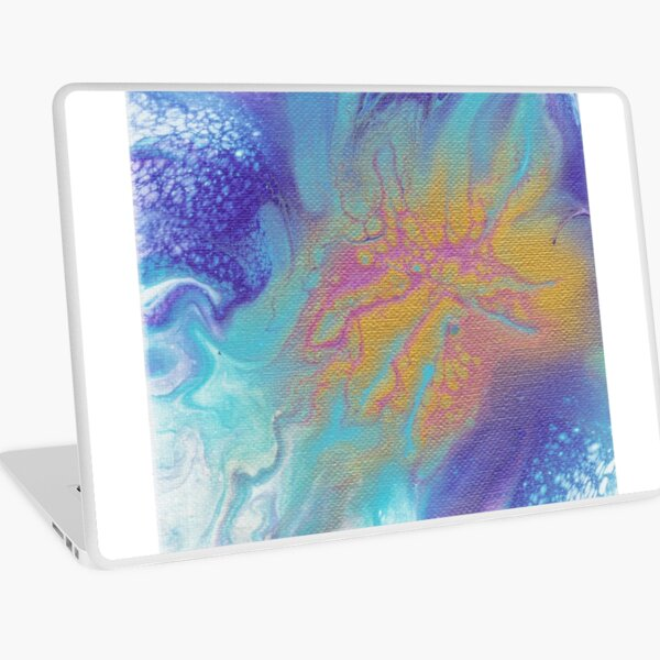 Metallic Bloom Laptop Skin