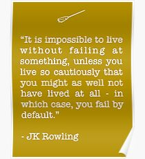 JK Rowling Quote Poster