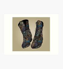 Floral Boots Art Print