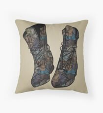 Floral Boots Throw Pillow