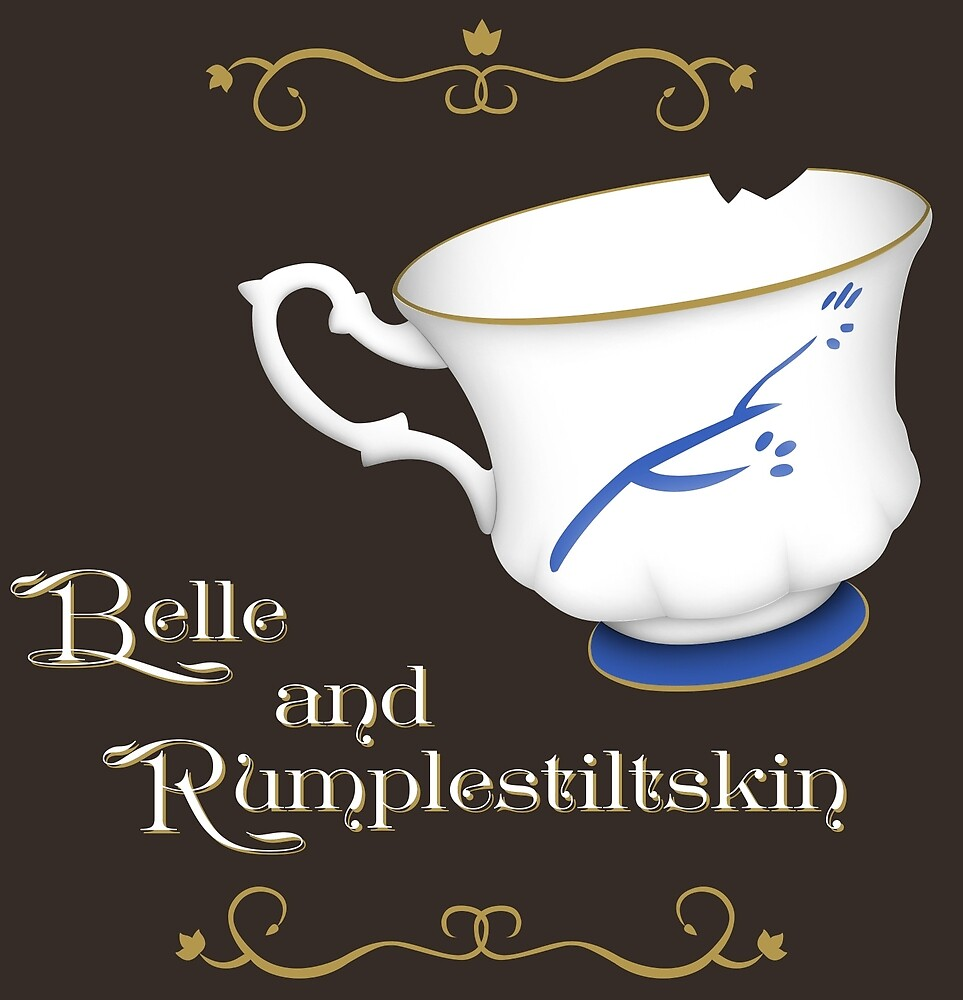 Belle and Rumplestiltskin's cup by shadee
