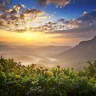 Highlands Sunrise - Whitesides Mountain Landscape by Dave Allen