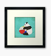 Panda Summer Fun Framed Print
