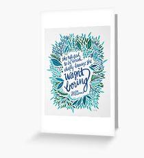 Zelda Fitzgerald – Blue on White Greeting Card