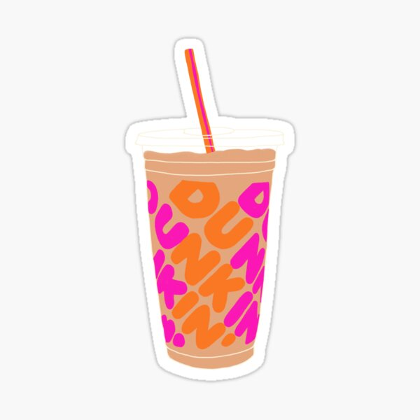 Dunkin Iced Coffee Sticker
