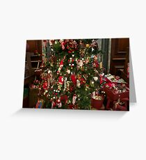 elf tree and toys Greeting Card