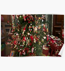 elf tree and toys Poster