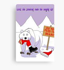 Santa's Naughty List Card Canvas Print
