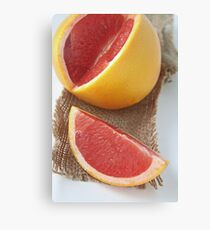 Ruby grapefruit Canvas Print