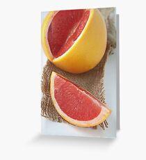 Ruby grapefruit Greeting Card