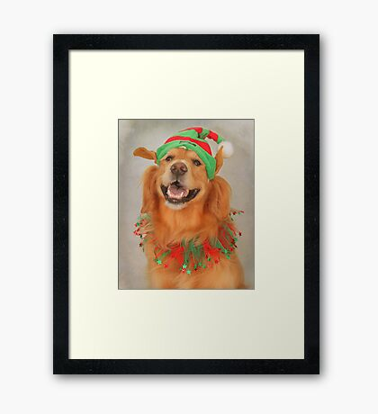 """"""" May Your Days Be Merry And Bright~ And May All Your Christmas Hats Fit Right """" Framed Print"""