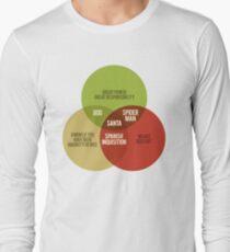 Santa Venn Diagram Long Sleeve T-Shirt