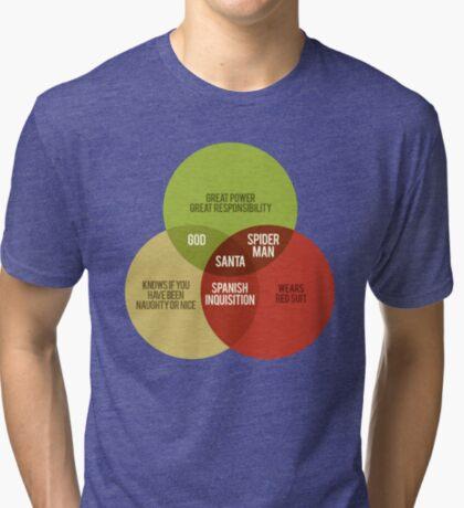 Santa Venn Diagram Tri-blend T-Shirt