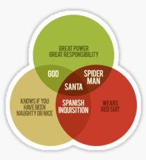 Santa Venn Diagram Sticker