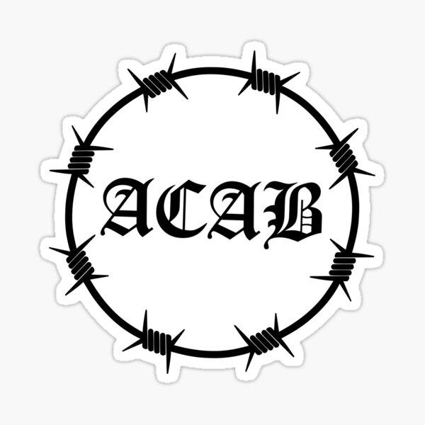 ACAB Barbed Wire Sticker