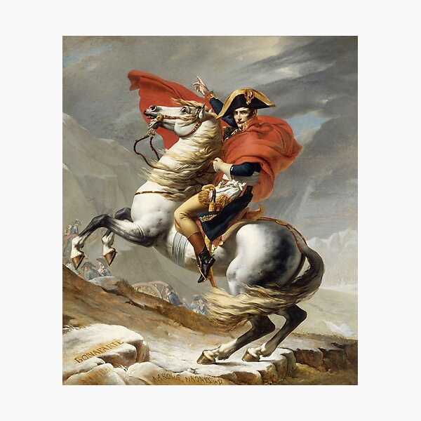 Napoleon Crossing the Alps Photographic Print