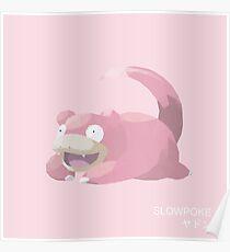 Slowpoke Low Poly Poster