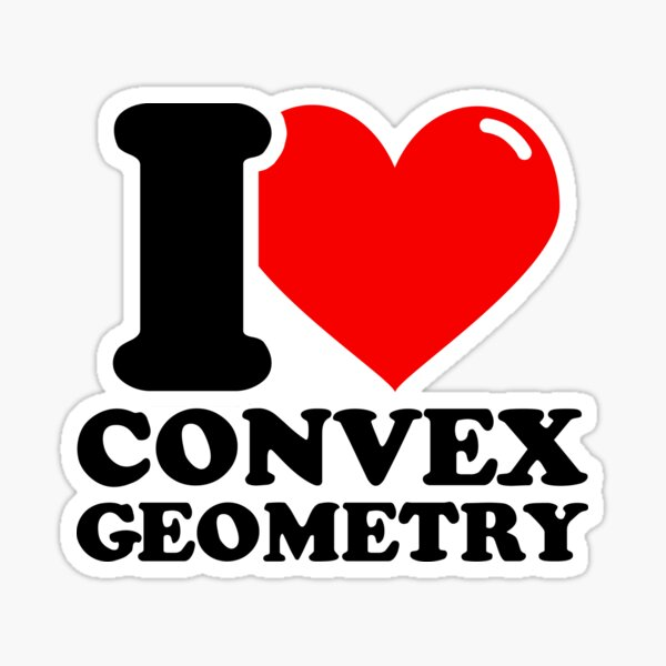 I Love Convex geometry Sticker
