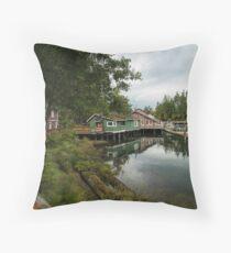 Telegraph Cove, Vancouver Island Throw Pillow